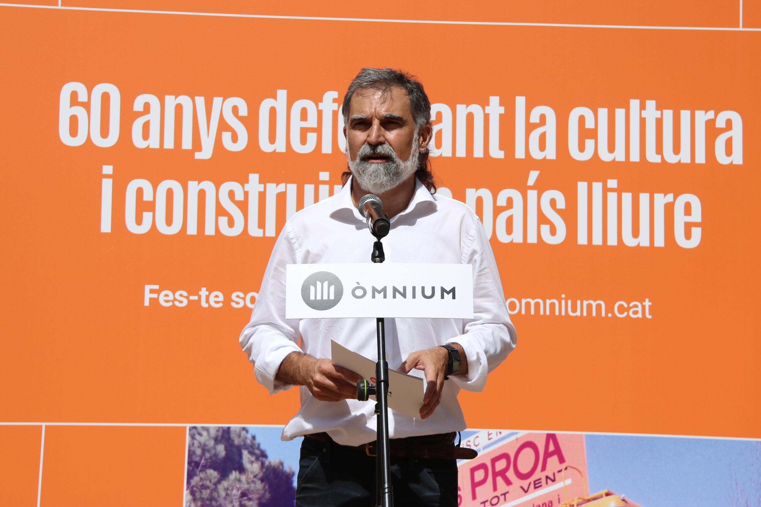 El president d'Òmnium, Jordi Cuixart, durant un acte / ACN