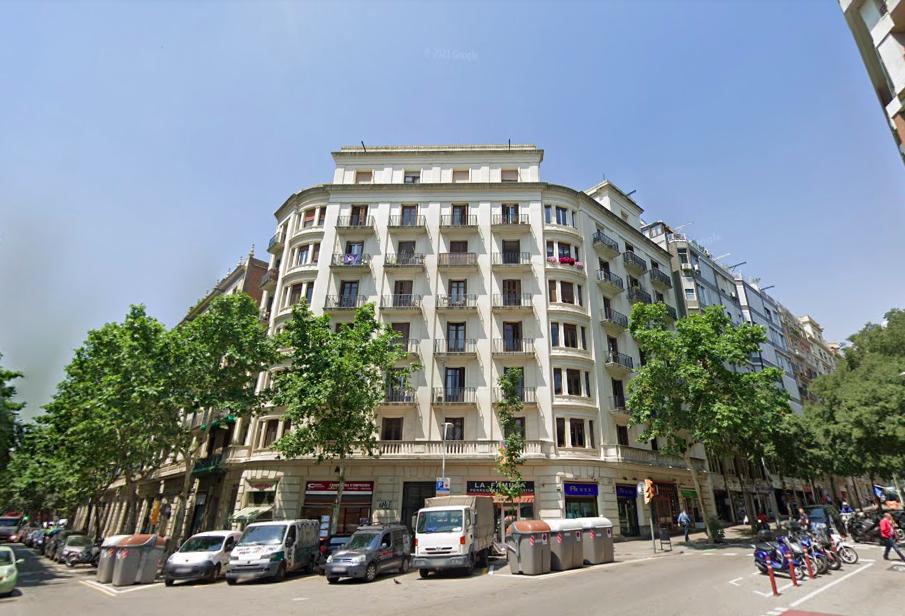Confluència del carrer Sardenya amb Indústria / Google