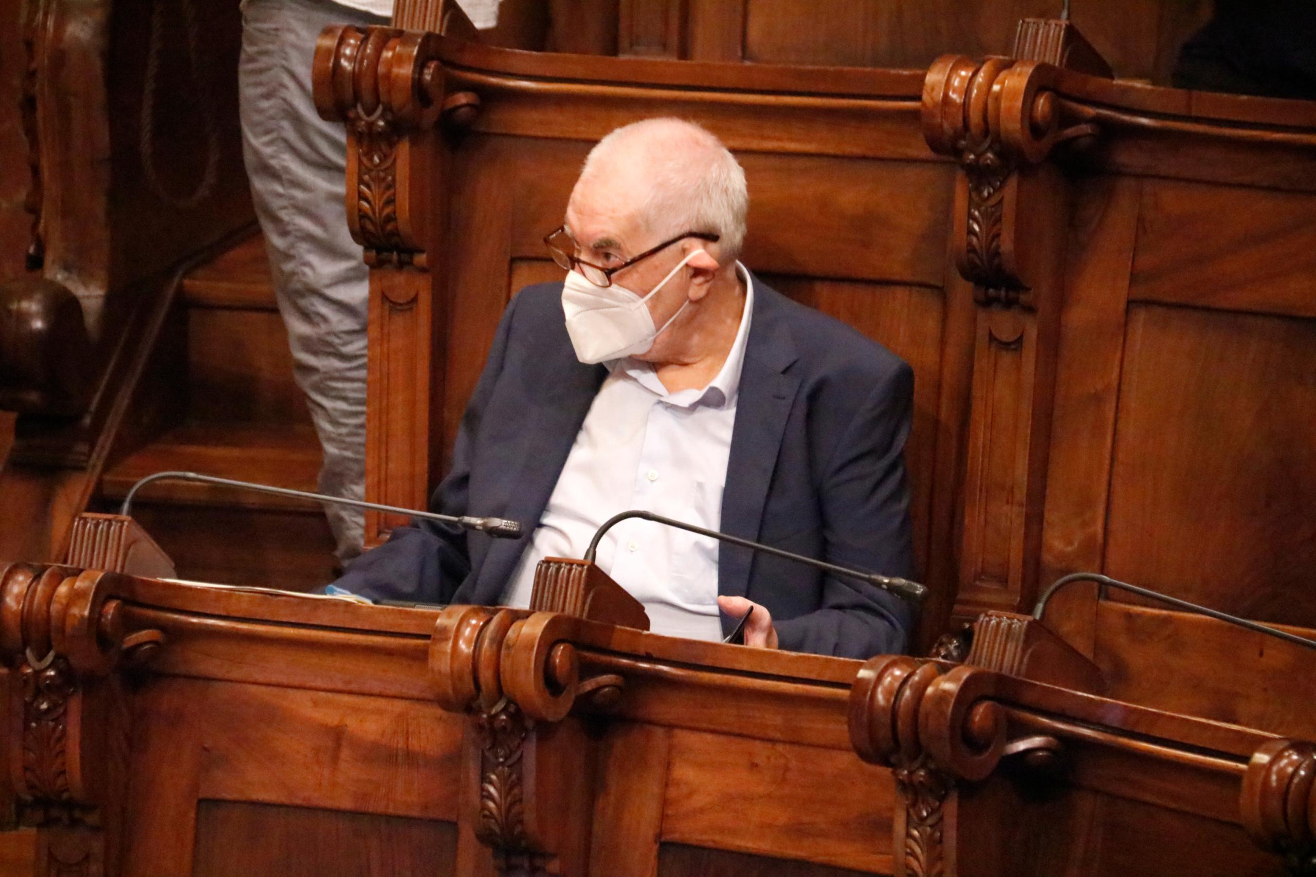 Ernest Maragall (ERC) al plenari de l'Ajuntament de Barcelona / ACN