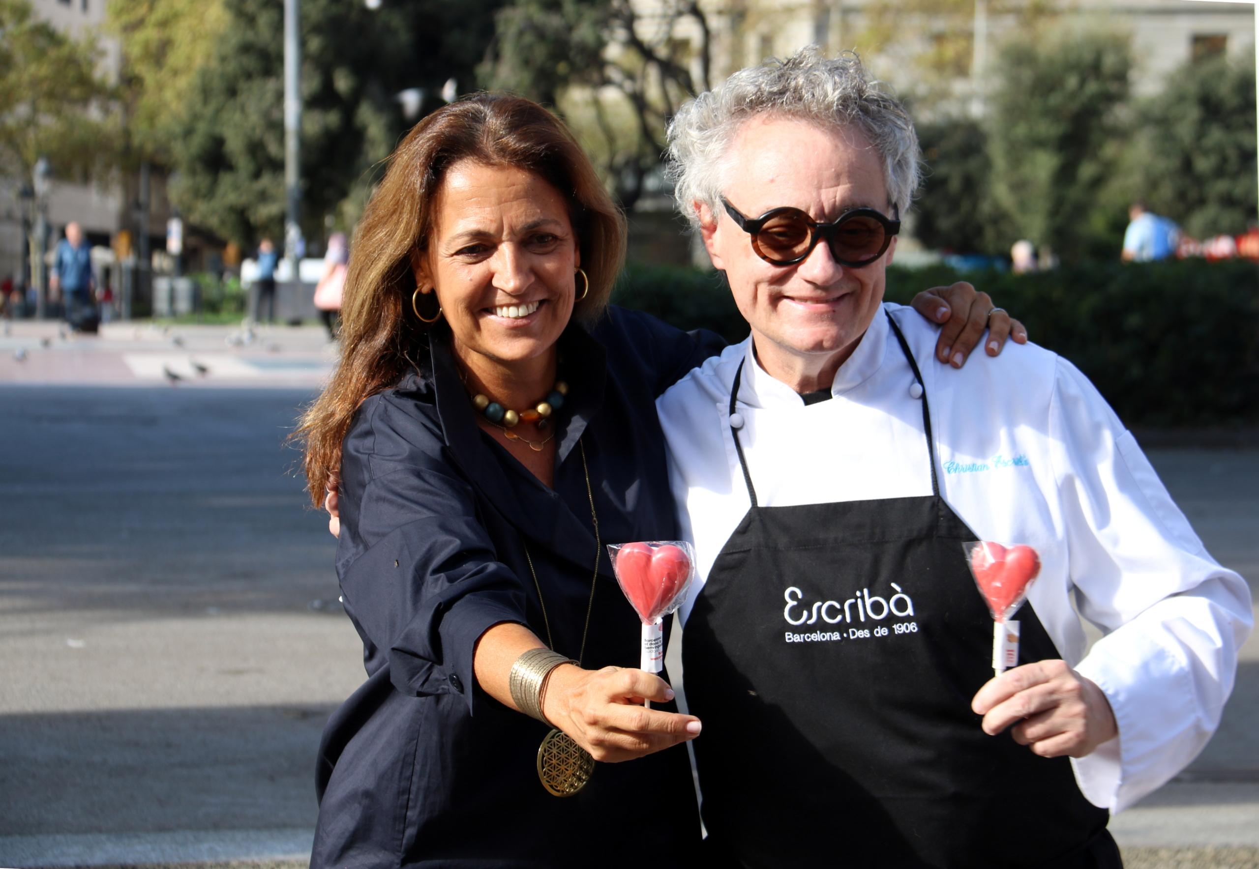 Marian Muro i Christian Escribà durant la presentació de la campanya de Turisme de Barcelona