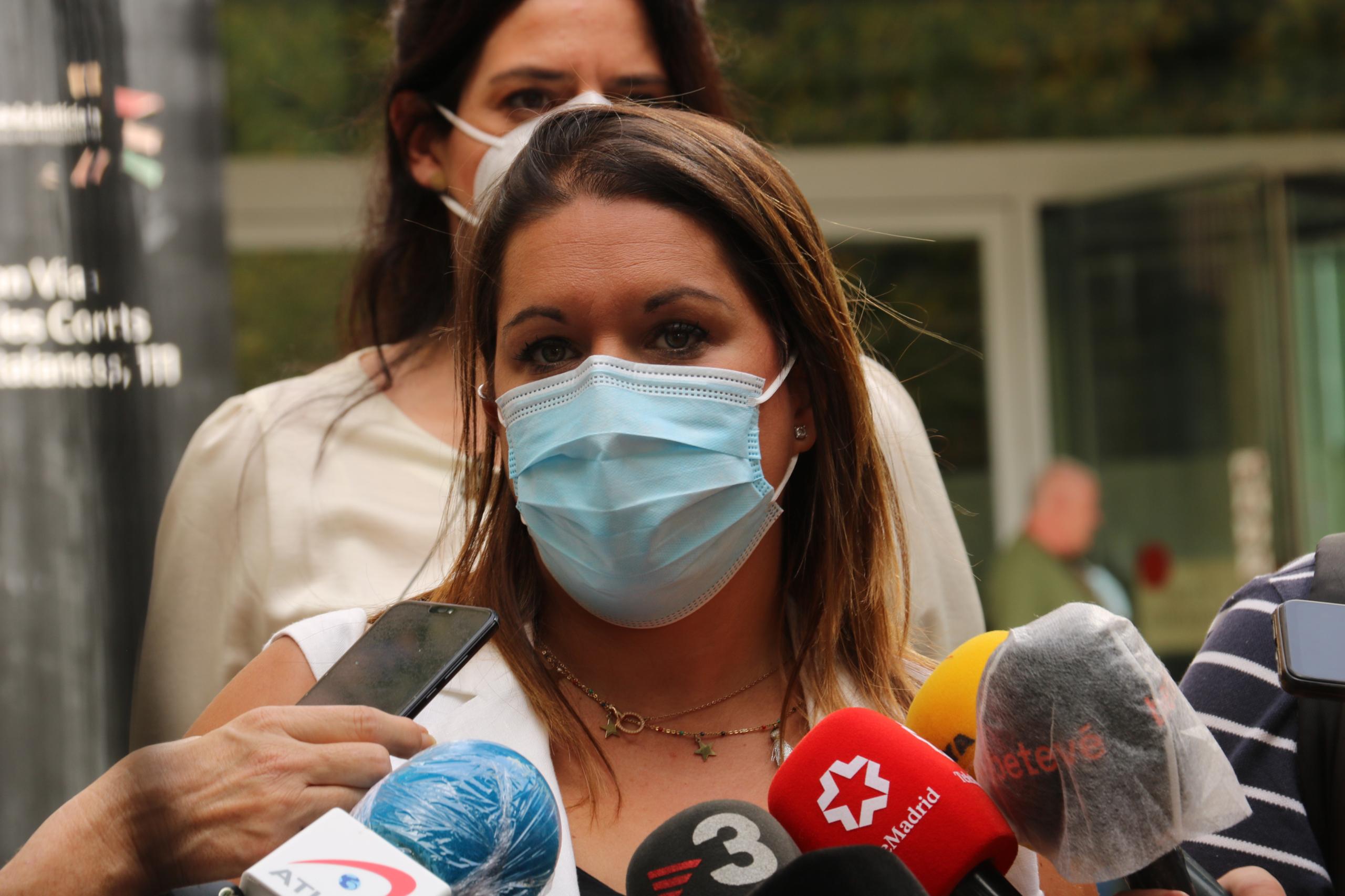 L'advocada de la mare del nen assassinat, Marta Ariste, a la Ciutat de la Justícia / ACN