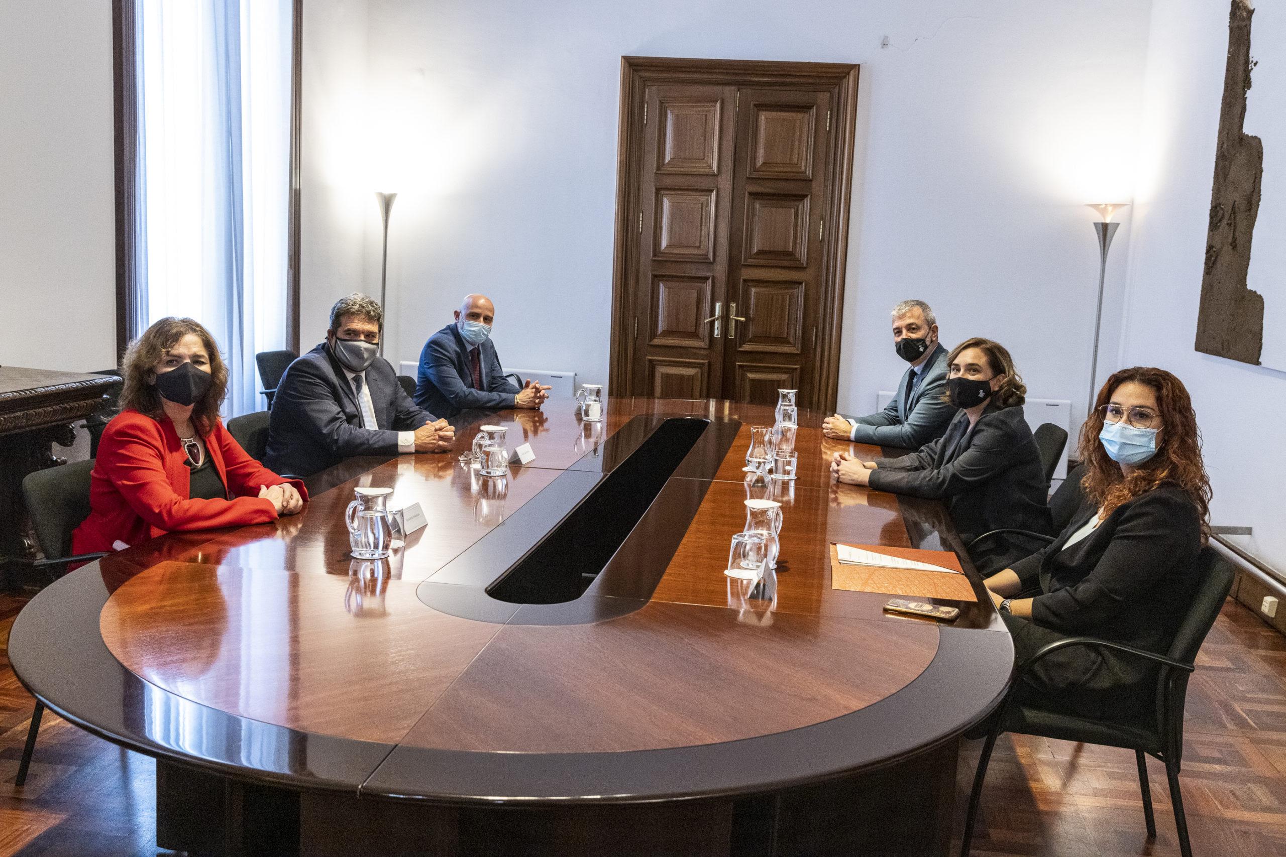 Representants del ministeri d'Inclusió i de l'Ajuntament, reunits aquesta tarda / Ajuntament